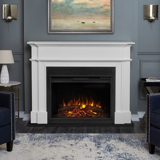 Real Flame Harlan Grand White Electric Fireplace