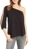 Velvet by Graham & Spencer Women's Slub Cotton One-Shoulder Top