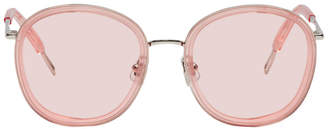 Gentle Monster Pink and Silver Ollie Sunglasses