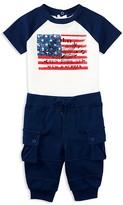 Ralph Lauren Infant Boys' Flag Tee & Cargo Jogger Pants Set - Sizes 3-24 Months