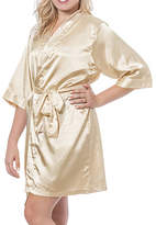 Cathy's Concepts Cathys Concepts Personalized Womens Satin Kimono Robes 3/4 Sleeve Short Length