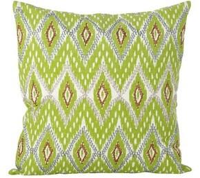 Saro Lifestyle Stitched Ikat Design Cotton Down Filled Throw Pillow