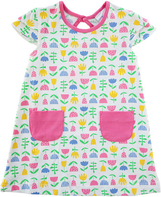 Florence Eiseman Girl's Floral-Print Tiered Cap-Sleeve Dress, Size 2-6