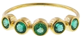 Jennifer Meyer Five Stone Emerald Ring - Yellow Gold