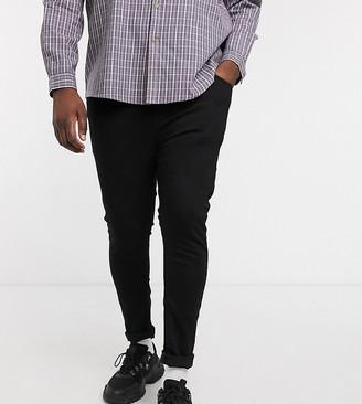 Asos Design DESIGN Plus spray on jeans in power stretch denim in black