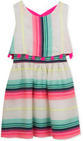Rare Editions Stripe Popover Dress, Toddler & Little Girls (2T-6X)