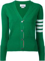 Thom Browne cashmere V-neck cardigan - women - Cashmere - 40