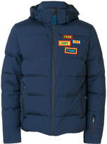 Fendi patch detail padded jacket