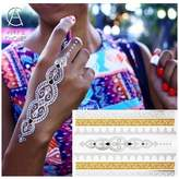 Amy Choice Temporary Tattoo Design Water Transfer Metal Body Art Flash Tattoo Sticker For Henna Pattern