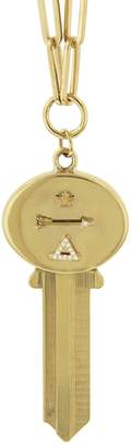 Foundrae Dream Key On Classic FOB Clip Chain Necklace - Yellow Gold