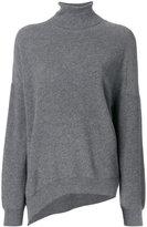 Vanessa Bruno asymmetric roll-neck jumper - women - Cotton/Wool - S