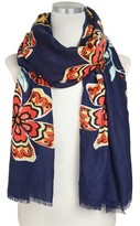 Do Everything In Love® Flower Print Scarf - Navy