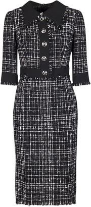Dolce & Gabbana Tweed Button Detail Dress