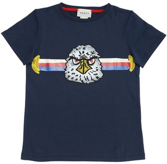 Gucci Eagle Cotton Jersey T-Shirt