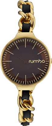 RumbaTime Black Orchard Chain Watch