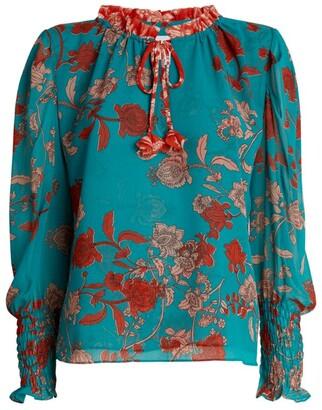 MISA Siena Floral Print Top