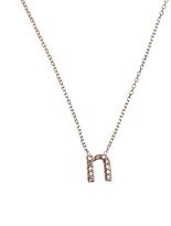 KC Designs Rose Gold Diamond Letter N Necklace