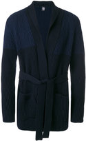 Eleventy ribbed belted cardigan - men - Virgin Wool - S
