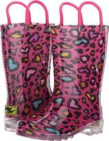 Western Chief Cutie Leopard Lighted Rain Boot,9