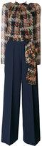 Blumarine contrast jumpsuit - women - Silk/Polyester/Spandex/Elastane/Viscose - 42