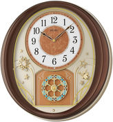 Seiko Melodies In Motion Wall Clock With Brown Metallic Case Qxm553brh