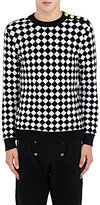 Balmain Men's Checked Knit Sweater