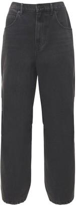 Alexander Wang Nylon & Denim Baggy Jeans