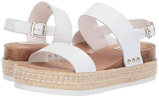 Steve Madden Catia Wedge Sandal (Black Leather) Women's Wedge Shoes