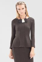 Josie Natori Textured Knit Jacquard Top