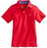 Vineyard Vines Boys' Piqué Flag Trim Polo Shirt - Sizes S-XL