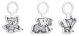 DockATot Hanging Elephant, Owl & Fox Toy Set