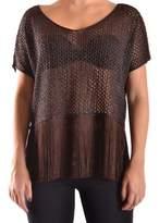 Liu Jo Women's Brown Viscose T-shirt.
