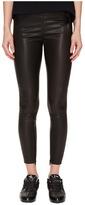 Yohji Yamamoto Leather Leggings Women's Casual Pants