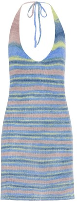 Jacquemus Striped halterneck knit minidress