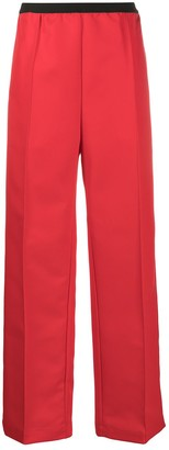 Plan C elasticated waist wide-leg trousers
