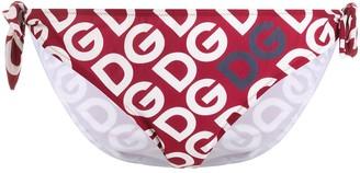 Dolce & Gabbana logo tie bikini bottoms