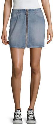 REWASH Rewash Womens Mid Rise Short Denim Skirt- Juniors