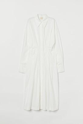 H&M Cotton Poplin Shirt Dress