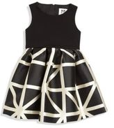 Milly Girl's Pleated Fit-&-Flare Dress