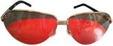 Valentino Gold Metal Sunglasses