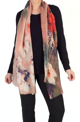 Chesca Wool Rich Floral Scarf, Multi