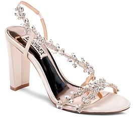 Badgley Mischka Women's Felda Crystal Embellished High-Heel Sandals