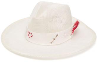 Ruslan Baginskiy Embroidered Panama Hat