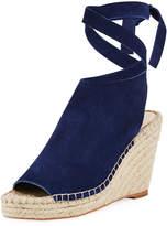 Loeffler Randall Lyra Suede Ankle-Wrap Espadrille Sandal