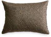 DKNY Gotham Art Deco Oblong Throw Pillow in Platinum