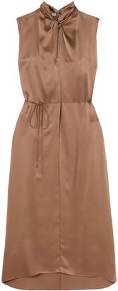 Vince Knotted Silk-satin Dress