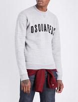 DSQUARED2 Undershirt-detail cotton and wool sweatshirt