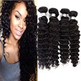Echo Beauty 7a Indian Deep Wave Hair 4 Bundles Mixed of 12inch 14inch 16inch 18inch Natural Black Color Virgin