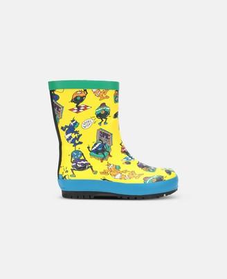 Stella Mccartney Kids Stella McCartney music monsters rain boots