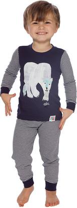 Intimo Sleep Bottoms PR875 - Eric Carle Navy Stripe Polar Bear Pajama Set - Infant